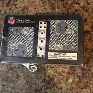 New Dallas Cowboys 2-pack Playing Cards w/Dice